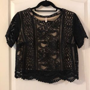 Laced Crop Top